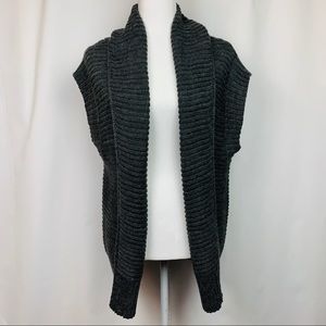 Romeo &Juliet Couture Charcoal Wool Blend Cardigan